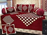 Ab Home Decor chenille diwan set of 8 pieces,Maroon
