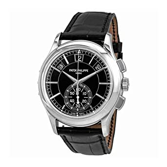 PATEK PHILIPPE complicaciones negro Dial Perpetual calendario Platino Mens Reloj 5905p-010: Amazon.es: Relojes