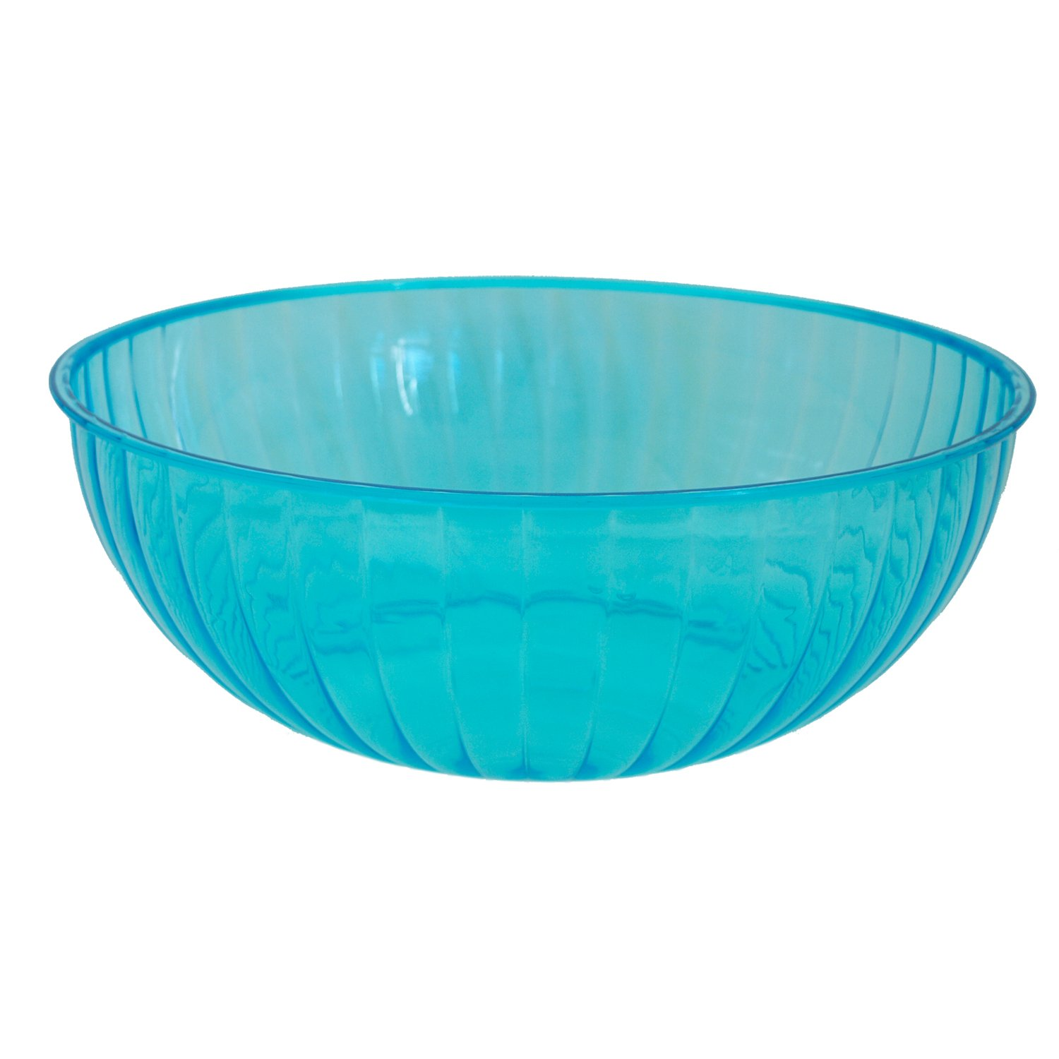 Party Essentials N763920 Hard Plastic 192-Ounce Serving Bowl, Neon Blue