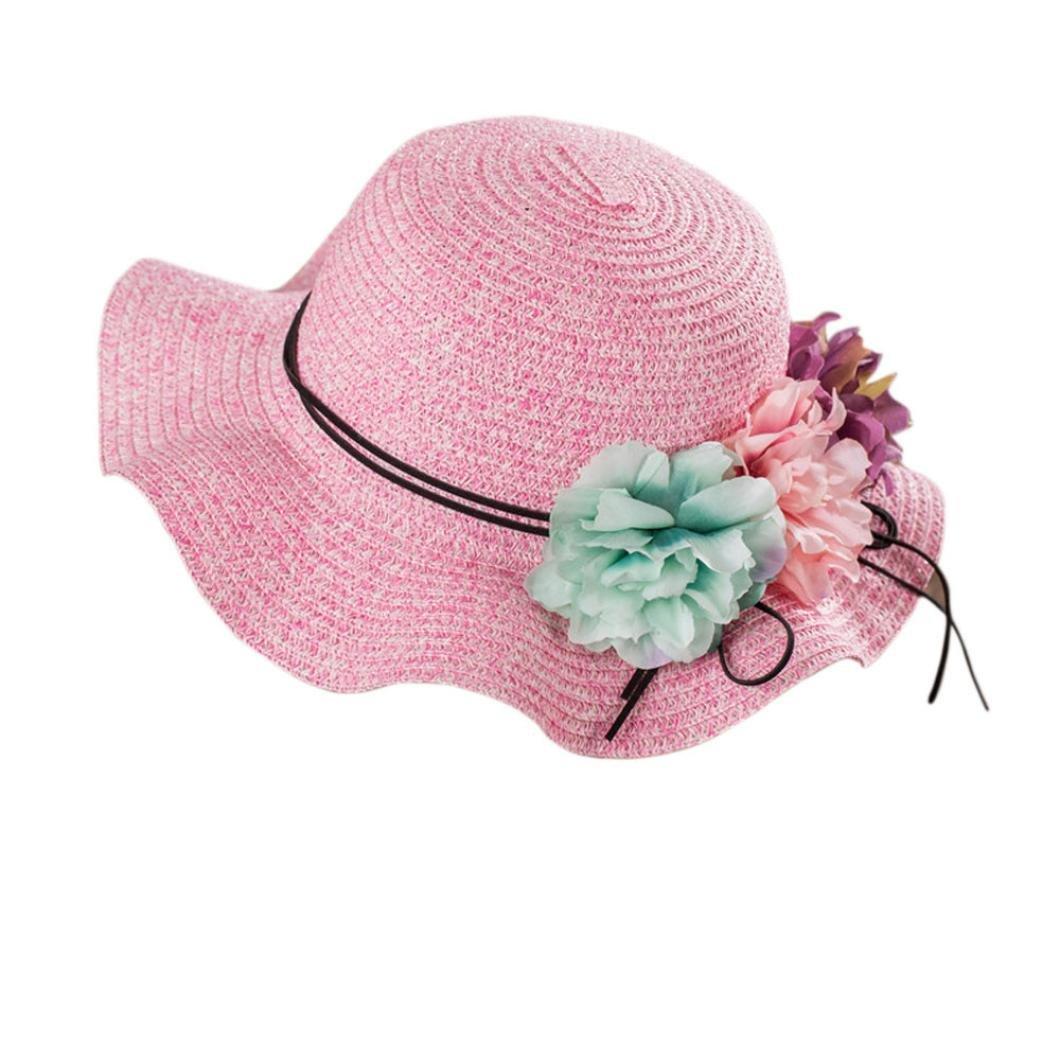 b0b6b26ca3105 Gaddrt Elegant Ladies Summer Sun Hats, Girl Women Floppy Wide Brim Beach  Hats, Flower Boho Cap Foldable & Packable - UPF 50+ Beige: Amazon.co.uk:  Clothing