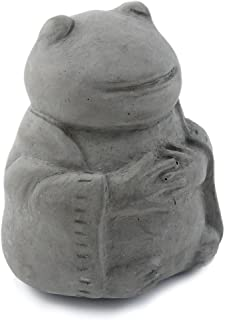 product image for Modern Artisans Meditating Frog - Small Cast Stone Desk Pet in Grey Stone