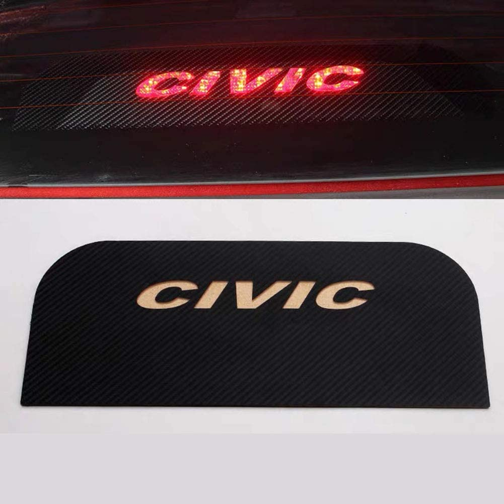 MAXDOOL Car High Brake Light Sticker Acrylic Projection Board Decal Top Tail Light Stickers Car High Mounted Decorative Emblems for Honda Civic