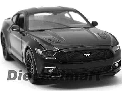 2015 Mustang Gt Black >> Amazon Com 2015 Ford Mustang Gt Black 1 24 Diecast Car