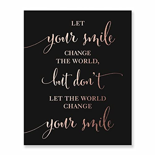 Amazoncom Inspirational Sayings Wall Art Print Let Your Smile