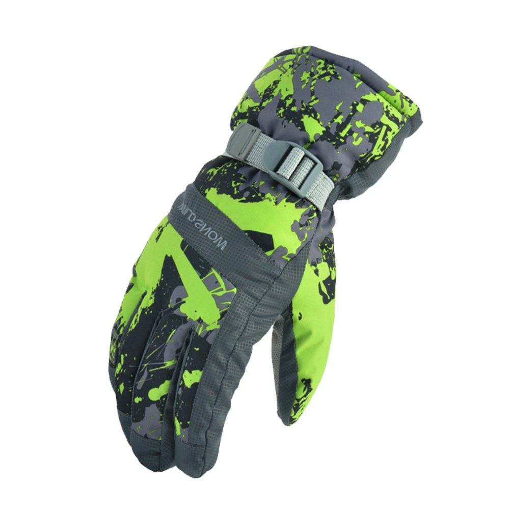 DXG & FXスキー手袋Loversアウトドア冬用サイクリンググローブメンズ、レディース、wind-proofとカシミア厚みグローブの冬暖かい手袋 C X-Large