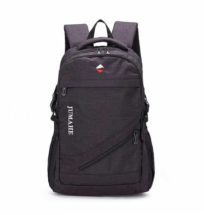 Maod Color sólido juveniles mochila portatil ligera mochilas escolares Lienzo grande Bolsa de escuela 15.6 Pulgada (negro): Amazon.es: Electrónica