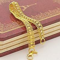 siamsmilethailandshop Sparking Soft Bracelet Chain 14K Yellow Gold Filled Splendid Jewelry