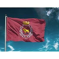 G I Bandera Teruel | Medidas 150cm x 85cm | Fácil colocación | Decoración Exteriores (1