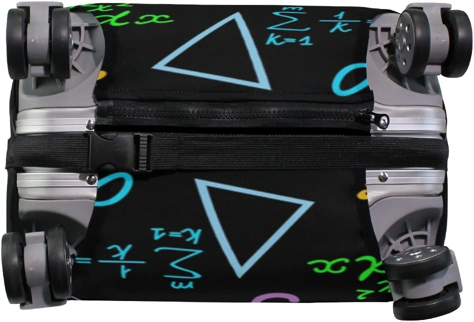 OREZI 3D Multicolored Mathematical Pattern Luggage Protector Suitcase Cover 18-32 Inch