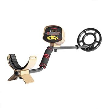 GCSJ- Detector de metales subterráneo profesional con bobina de búsqueda impermeable, 10 - 200 cm de profundidad, sensibilidad ajustable y cazador de ...