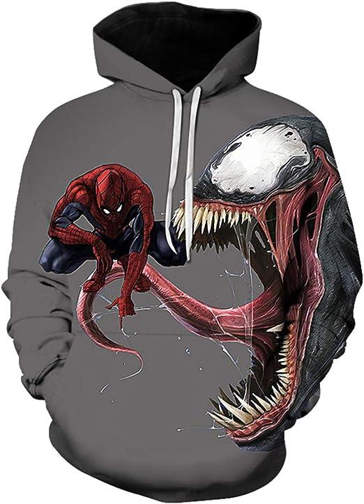 AEMUT Marvel Venom con Capucha 3D Sudadera pulóver Ropa de Sport ...