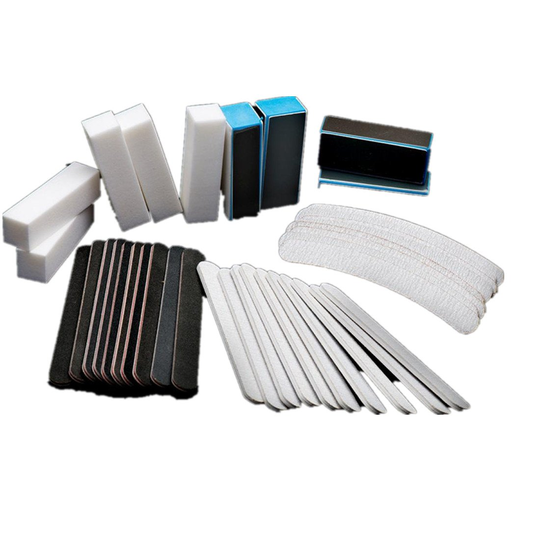 Nail Art Tools Kit Set, 40PCS Kingfansion Nail Art Sanding Files Buffer Block Manicure Tools Pedicure UV Gel Set