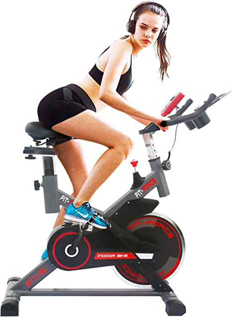 FIT-FORCE Bici estatica GTX con Volante de inercia de 16kg: Amazon ...