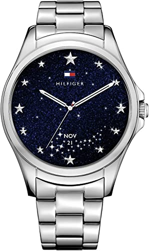Tommy Hilfiger Smartwatch Quartz and Stainless-Steel-Plated Casual Watch, Color: Chrome/Silver