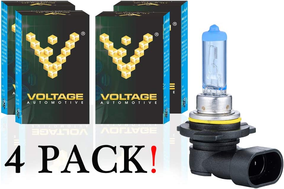 Voltage Automotive 9006 HB4 Headlight Bulb Polarize White Replacement Professional Upgrade Head Light Bulb 4 Pack