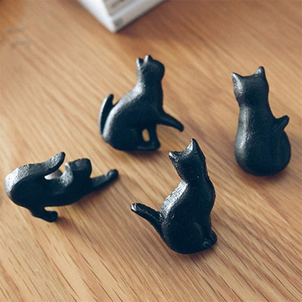 As picture 4* Tiradores de caj/ón creativos con forma de gato para armarios NYAOLE