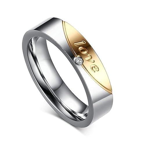 Anazoz Edelstahl Ringe Fur Herren Damen Hochzeit Ringe Promise