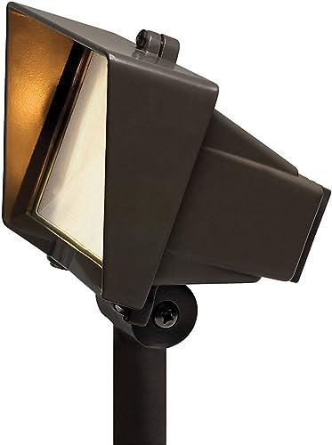 Hinkley Lighting 1521BZ T4 Flood Light with Frosted Lens 50 Watt Maximum, Bronze