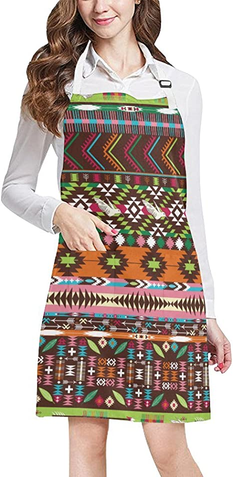 work apron cooks several African prints