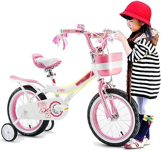 Bicicletas infantiles Bicicletas Bicicleta Triciclo Pedal Boy Girl Andador De Rompecabezas Bicicleta Equilibrada para Niños Rueda Auxiliar Regalo para Niños (Color : Pink, Size : 16 Inches): Amazon.es: Hogar