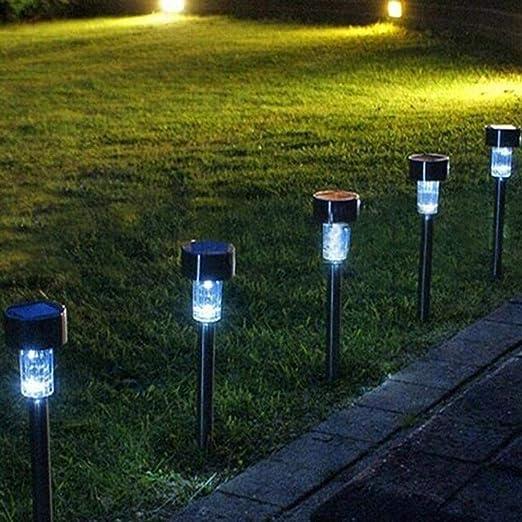 gardenmile 10 X couleur changeante Acier inoxydable LED ...