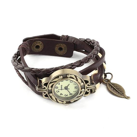 autentico ampia selezione di design Raccogliere Qirui Fashion Retro Watch Leaf Bracelet Watch Quartz ...