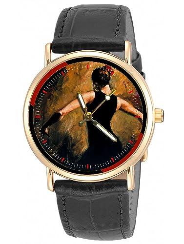 Flamenco danza arte arte clásico español Barcelona 30 mm reloj de pulsera: Amazon.es: Relojes
