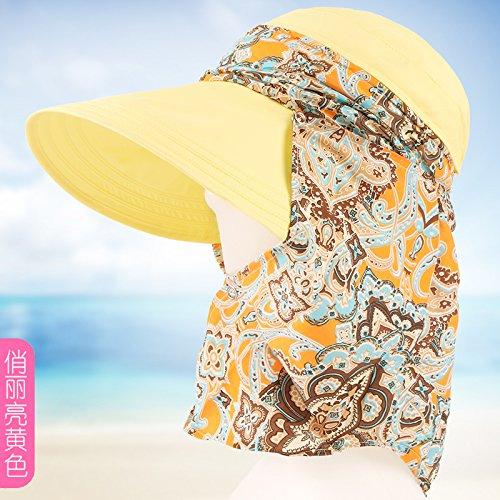 Vaevansp Sunny Hut Sonnenhut Outdoor Sonnencreme Falten Anti-Ultraviolett Groß Entlang Der Strand Cap Cap, M