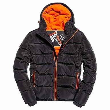 617295a0752c98 Superdry Mens Sports Puffer Jacket Sports Puffer Jacket Down Alternative  Coat - Black -: Amazon.co.uk: Clothing