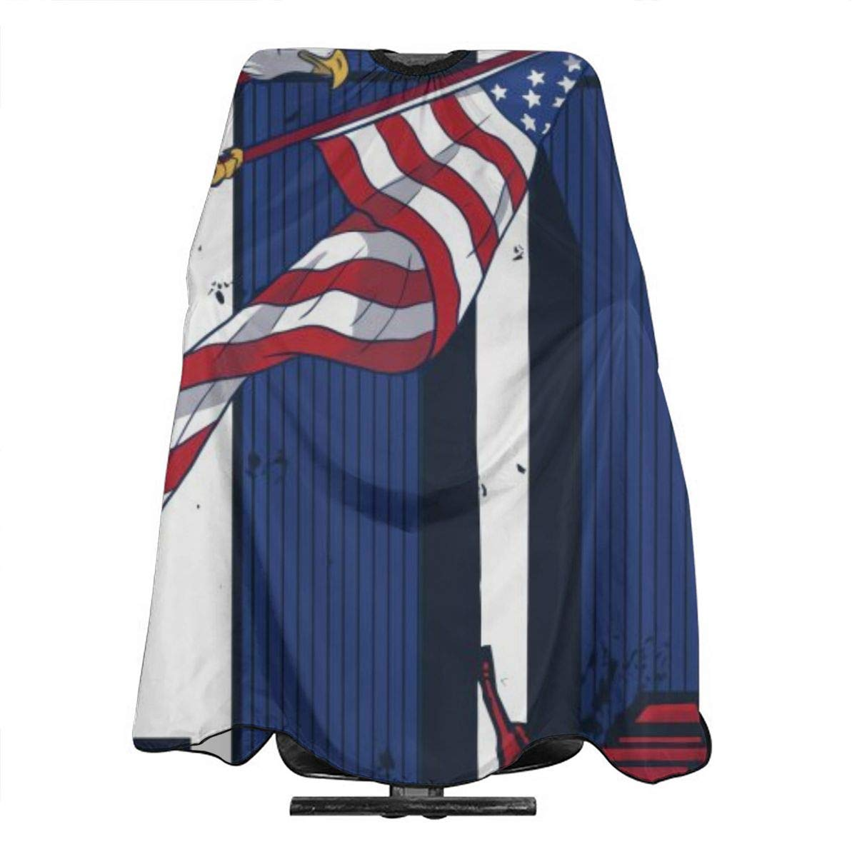 """Professional Barber Cape Salon Hair Styling Cutting Haircut Aprons USA American Flag Capes For Proof Hairdresser Coloring Perming Shampoo Chemical 55"""""""" X 66 : Beauty"""