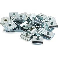 PZRT - Tuerca Deslizante para Perfil de extrusión de Aluminio, chapada en níquel, Serie 2020, Serie T-Nut M3, M4, M5, M6, 3030, Serie M6, M6, M8, 4040 Series M6 y M8