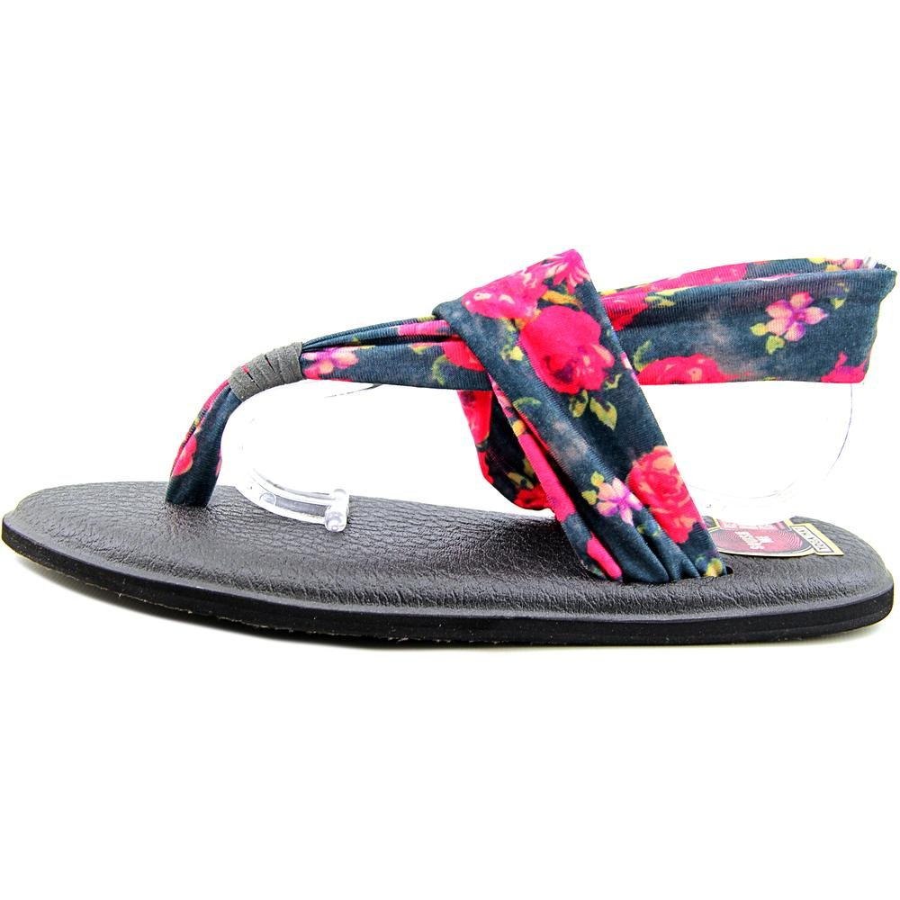 es Sanuk Chancla Amazon Roses Sling Yoga Lona 2 Charcoal Multi 37 vwIrZvUqx