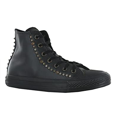 6fc4f32dd242 Converse CT All Star Studded Black Leather Womens Trainers Size 6 UK   Amazon.co.uk  Shoes   Bags
