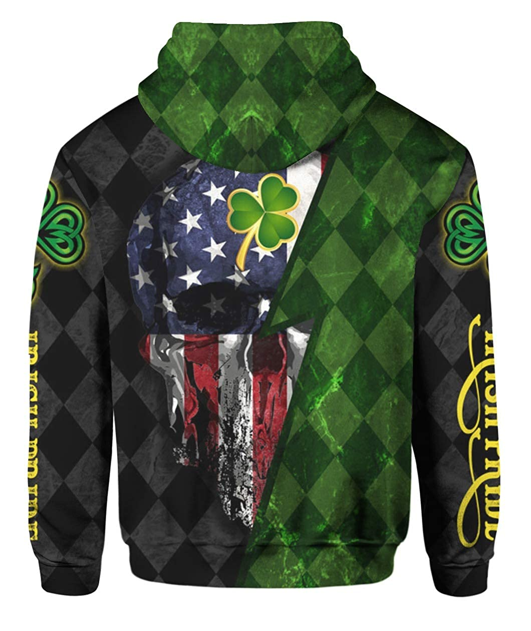 Patricks Day Irish Pride Skull 3D All Over Sublimation Printing Shirt