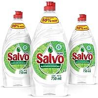 Salvo Pure Lavatrastes Liquido 3 unidades de 750ml, Total 2.3L