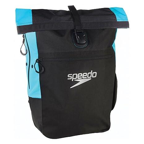 c283671ca4fe83 Speedo Team RSCK III AU Zaino Nuoto, Nero (Black/Japan Blue), Taglia ...