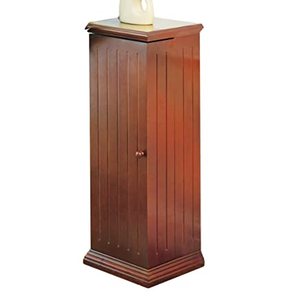 Collections Etc Swing Away Small Wood Vertical Media Cabinet CD U0026 DVD  Storage (325 CDs