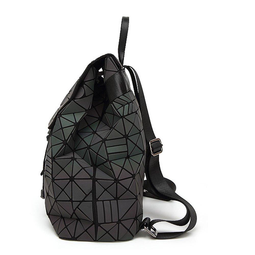 DIOMO Geometric Lingge Women Backpack Luminous Flash Mens Travel Shoulder  Bag Rucksack DIOMO-21 larger image ad7e063d27