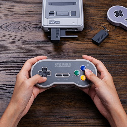 HIOTECH Wireless Controller 2.4GHz Wireless 8Bitdo SN30 Classic Video Game Joystick Gamepad for Super NES / SFC / SNES Classic Edition (Color)) by HIOTECH (Image #2)