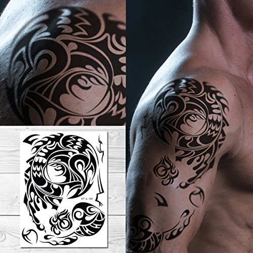 Supperb Tribal Temporary Tattoos - Male shoulder Tribal Tattoo