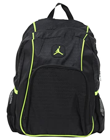 da5dfc0df1c1d Amazon.com  Nike Air Jordan 23 Backpack Black Volt Green  Computers ...