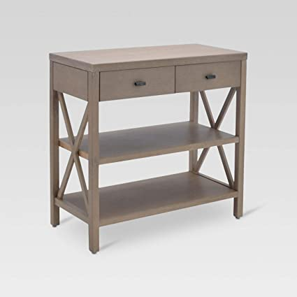 Gentil Owings Console Table 2 Shelf With Drawers   Threshold
