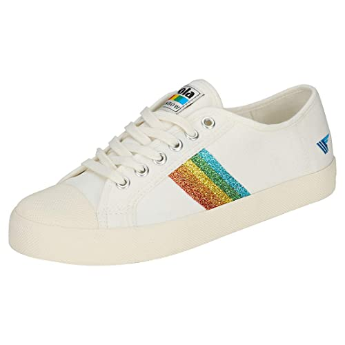 b5652421b2064 Gola Coaster Rainbow Glitter Womens Trainers