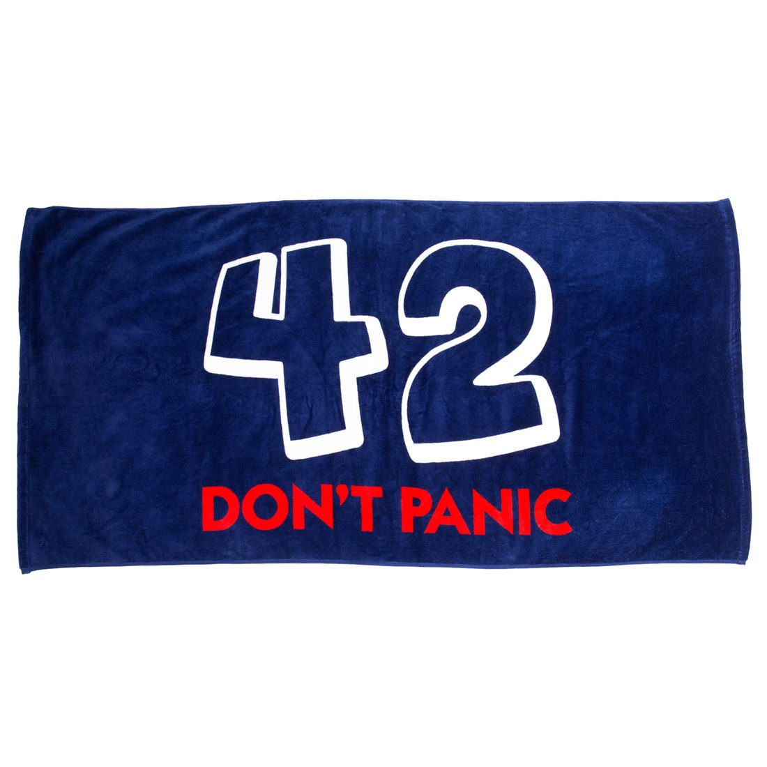 getDigital Bath & Beach Towel 42 Don't Panic - Essential for every hitchhiker in the galaxy - Blue, 100% Cotton, 55 by 28inch, certified by German textile standard