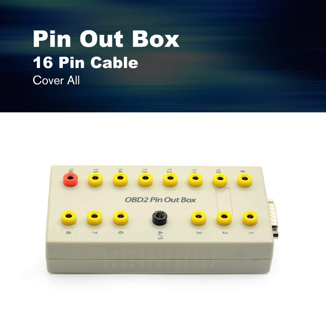 OBD2 Pin Out Box Breakout Tester Conector Auto diagnóstico Pinout Protocolo Protocolo Detector Auto Can Test Box 16 Pin Cable: Amazon.es: Bricolaje y ...