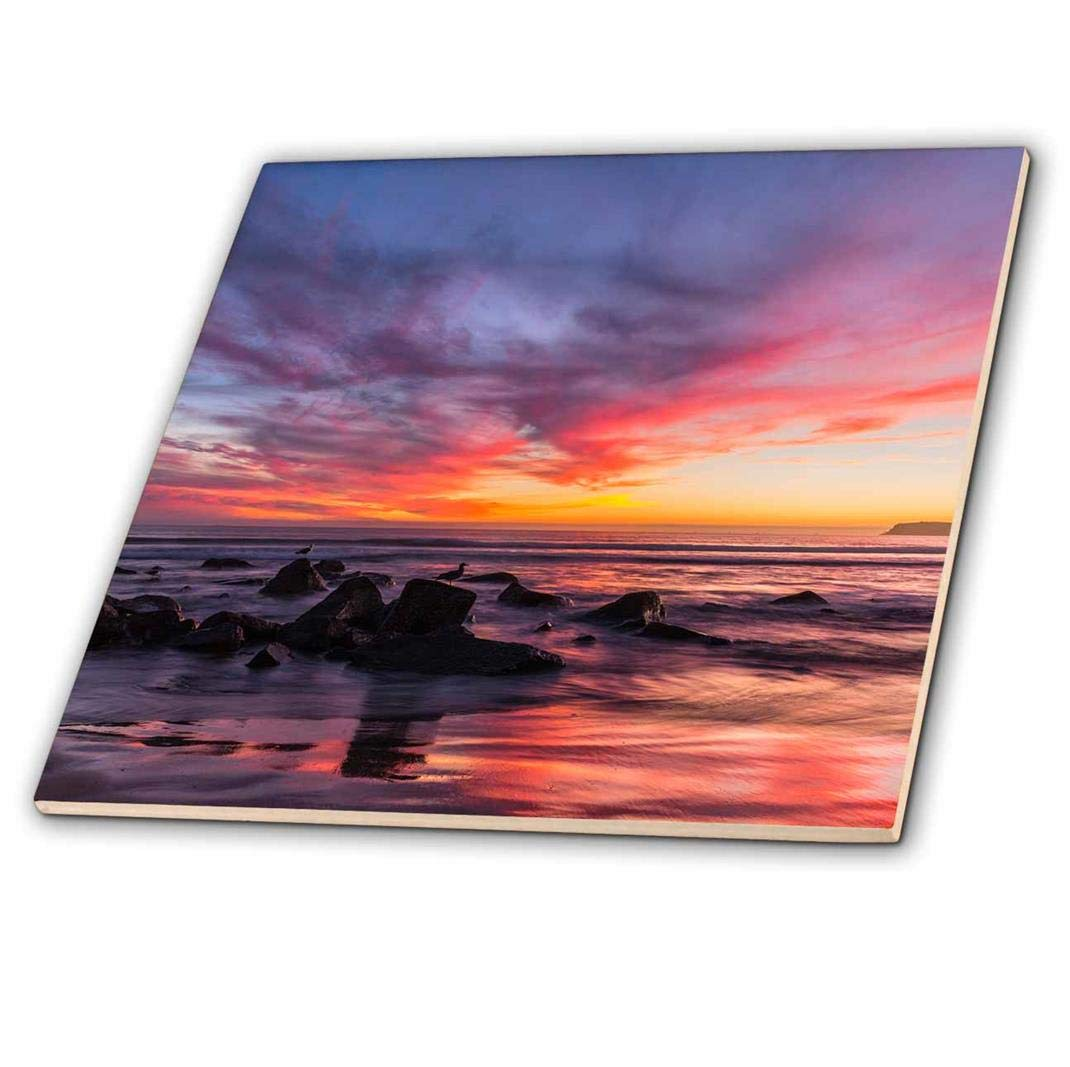 3dRose Sunset Over The Pacific from Coronado 6 ct/_205950/_2 Ceramic Tile