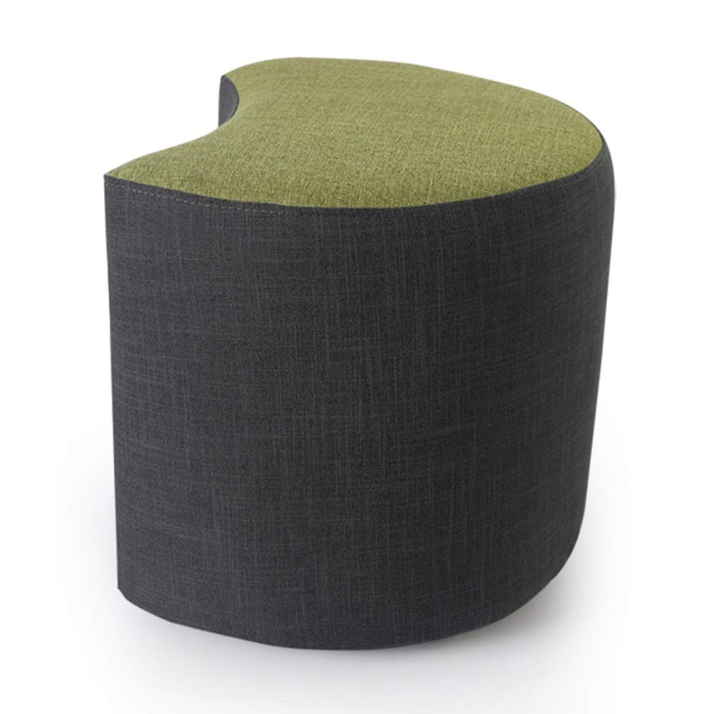 Green 1 4441cm Tingting-Stools, Solid Wood Bracket Living Room Sofa Bedroom Footrest Sitting Stool Leisure Fabric Short (color   Yellow 1, Size   44  41cm)