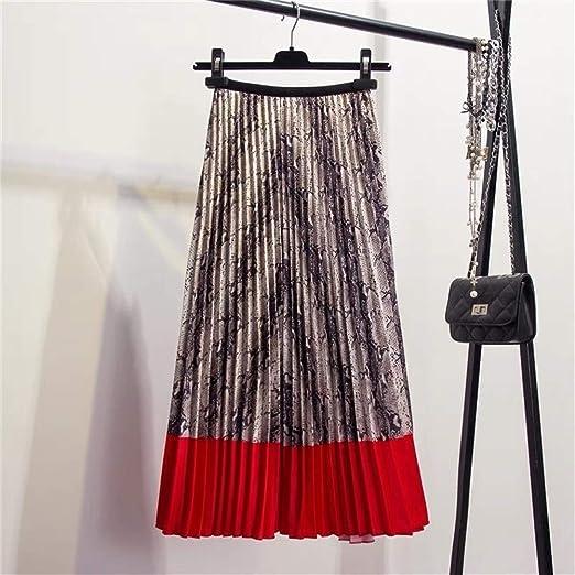 FENGLINZEKANG El Faldas de una línea for Las Mujeres, Faldas ...