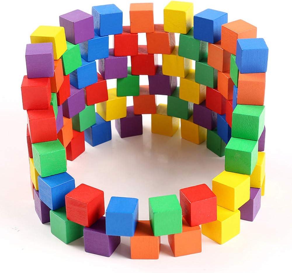 Juguetes De Madera Bloques De ConstruccióN Cuadrados De Madera 100 Cubos De PequeñOs Bloques De Madera Juego De Madera Bloques De Pila Rompecabezas De EducacióN Temprana