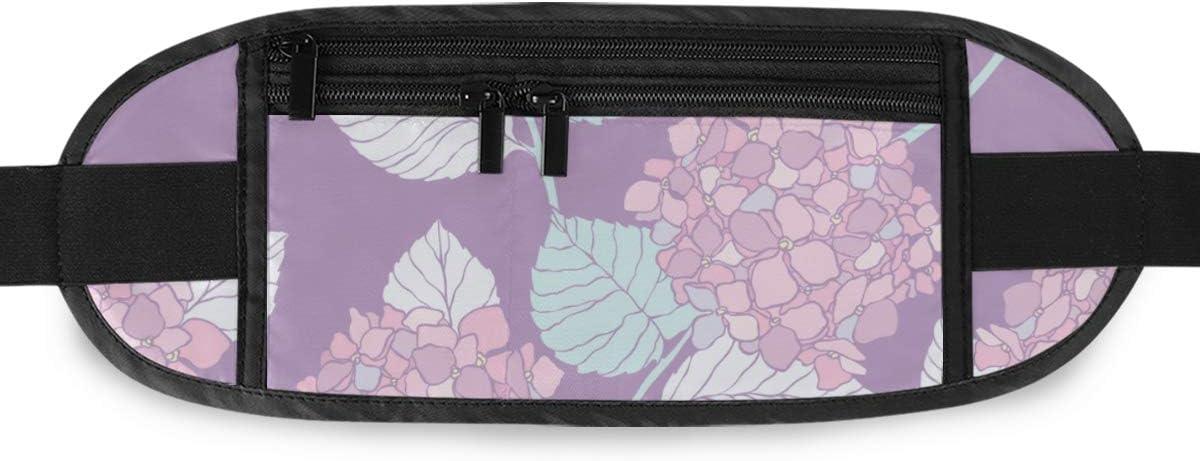 Travel Waist Pack,travel Pocket With Adjustable Belt Floral Pattern Flower Flourish Running Lumbar Pack For Travel Outdoor Sports Walking